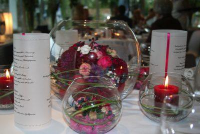 Tischdeko Glaskugeln 1